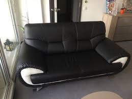 canape simili cuir noir canapé noir blanc occasion clasf