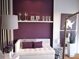 Purple Color Interior Decoration Ideas Accent Wall With The Shelf For Romantic Evenings