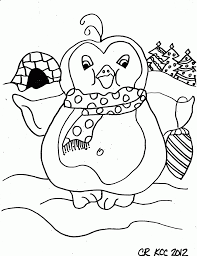Penguin Printable Coloring Sheet