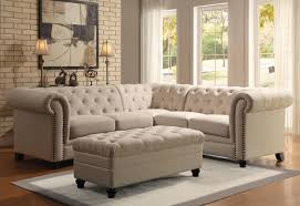 Jennifer Convertibles Sofa Bed by Roy Sectional Sofa 500222 Oatmeal Linen Blend Fabric By Coaster
