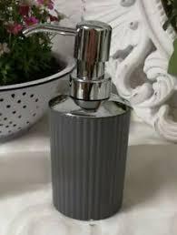 details zu seifenspender spender grau keramik bad badezimmer landhaus shabby vintage7x16