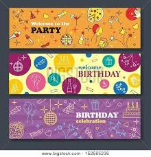Confetti Cute Fonts Masks Kids Birthday Party Banner Poster To