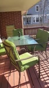 7 Piece Patio Dining Set Walmart by Mainstays Crossman 7 Piece Patio Dining Set Green Seats 6