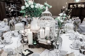 Winter Wedding Vintage Reception Room Donington Manor DIY Pinecone Christmas Decoration
