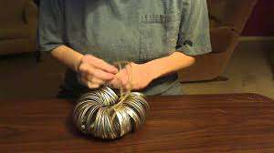 Dryer Vent Pumpkins by How To Make A Pumpkin With Twine Canning Rings And Cinnamon