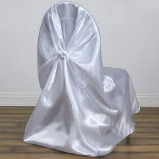 BalsaCircle 50 Pcs White Universal Satin Chair Covers Slipcovers For  Wedding Party Ceremony Reception Decorations Us 429 New Year Party Decorations Santa Hat Chair Covers Cover Chairs Tables Chafing Dish And Garden Krush Linen Detroit Mi Equipment Rental Wedding Party Chair Covers Cheap Chicago 1 Rentals Of Chicago 30pcslot Organza 18 X 275cm Style Universal Cover For Sale Made In China Cute Children Cartoon Pattern Frozen Baby Birthday