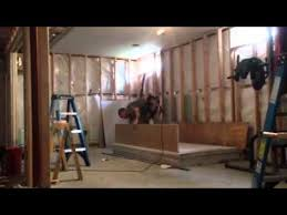 Resilient Channel Ceiling Weight by Drywall Ceiling Over Resilient Channel Finished Basement Youtube