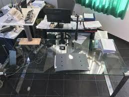 glastisch esszimmer oder büro gebraucht glasplatte