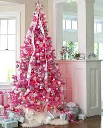 Pink Prelit Christmas Tree Grand Light 3 Lights Artificial Trees Colored Up Pre Lit Xmas