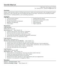 Legal Assistant Resume Secretary Samples Experienced Cover