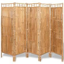 vidaxl raumteiler bambus 5 tlg 200x160 cm