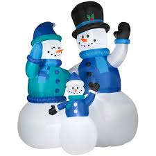 9ft Christmas Tree Walmart Canada by Colossal Airblown Snow Family Scene Available At These Retailers