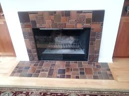 Batchelder Tile Fireplace Surround by Fun Fireplace Design With Different Colors And Sizes Of Motawi