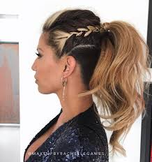 High Fashion Triple Color Ponytail Hairstyles