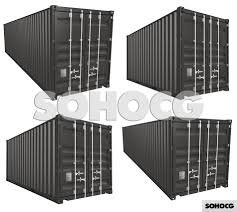 100 Shipping Container Model 3D Collection 20ft 40ft Standard High Cube