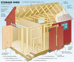 10 X 16 Shed Plans Gambrel by Gambrel Storage Shed Plans Shed Blueprints