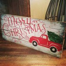 Merry Christmas Pallet Sign Outdoor Indoor By PrimitivePaintings