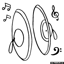 Hand Cymbals Coloring Page