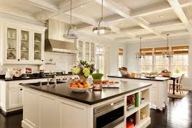 Kitchen Design Two Traditional Islands Provide Lots Of Storage And Space For A Built