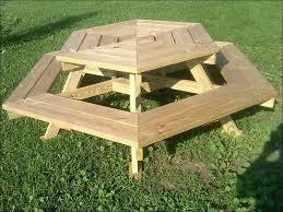 exteriors octagonal wooden garden table picnic table
