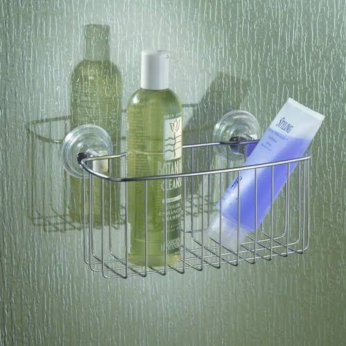 InterDesign Power Lock Basket Shower Caddy