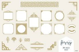 100 Art Deco Shape 25 X Gold Vector Elements Illustrations Creative Market