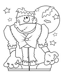 Free Printable Frankenstein Monster Halloween Coloring Page For Kids