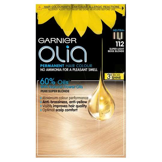 Garnier Olia Permanent Hair Dye - 112 Super Light Beige Blonde