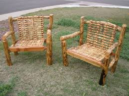 Log Patio Furniture Log Furniture Plans Recycled Things