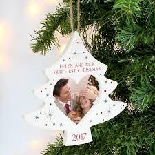 Personalised Christmas Tree Photo Frame Decoration 13145 P