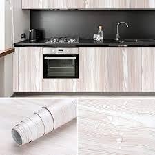 kinlo holztapete selbstklebend möbelfolie dekofolie küchenschränke aufkleber aus pvc möbelsticker für möbel küchenschrank tisch beige 0 61 5m