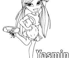 Bratz Yasmin Coloring Pages Printable4