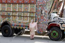 100 Female Truck Driver Shameem Akhter 53year Old Single Mother Pakistans Editorial