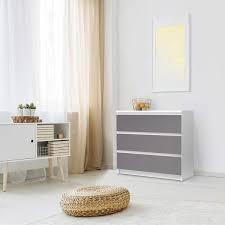 klebefolie für möbel ikea malm kommode 3 schubladen design grau light