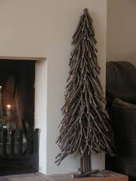 Rustic Christmas Tree Made Of Twigs And Branches