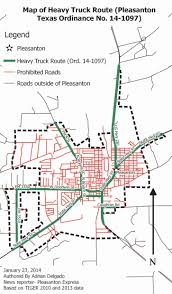 100 Truck Route Map Heavy Truck Parking Restrictions Pleasanton Express
