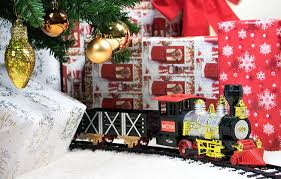 MOTA Classic Holiday Train Set With Real Smoke Has An Authentic Lights And Sounds It Is A Complete Of Locomotives Trucks Tracks Christmas