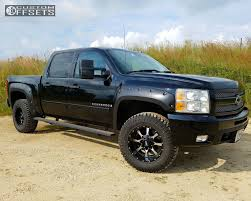 100 18x10 Truck Wheels 2008 Chevrolet Silverado 1500 Moto Metal Mo970 Zone Leveling Kit