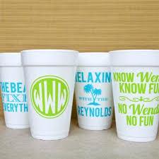 Personalized Bachelorette Party Styrofoam Cups Gracious Bridal