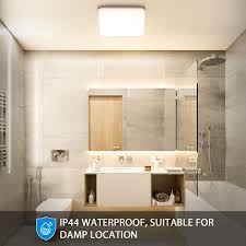 oeegoo led deckenleuchte bad 15w 1500lm flimmerfreie deckenle ip44 wasserdicht badle für wohnzimmer schlafzimmer kinderzimmer badezimmer