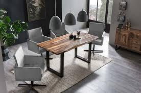 esszimmer essgruppe mit 4 stühlen esstisch komplettset wenge silber samt