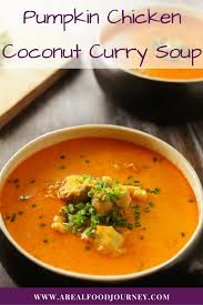 Thai Pumpkin Curry Soup Recipe by Curried Pumpkin Soup With Chicken A Real Food Journey