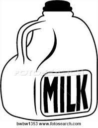 milk gallon fotosearch clipart