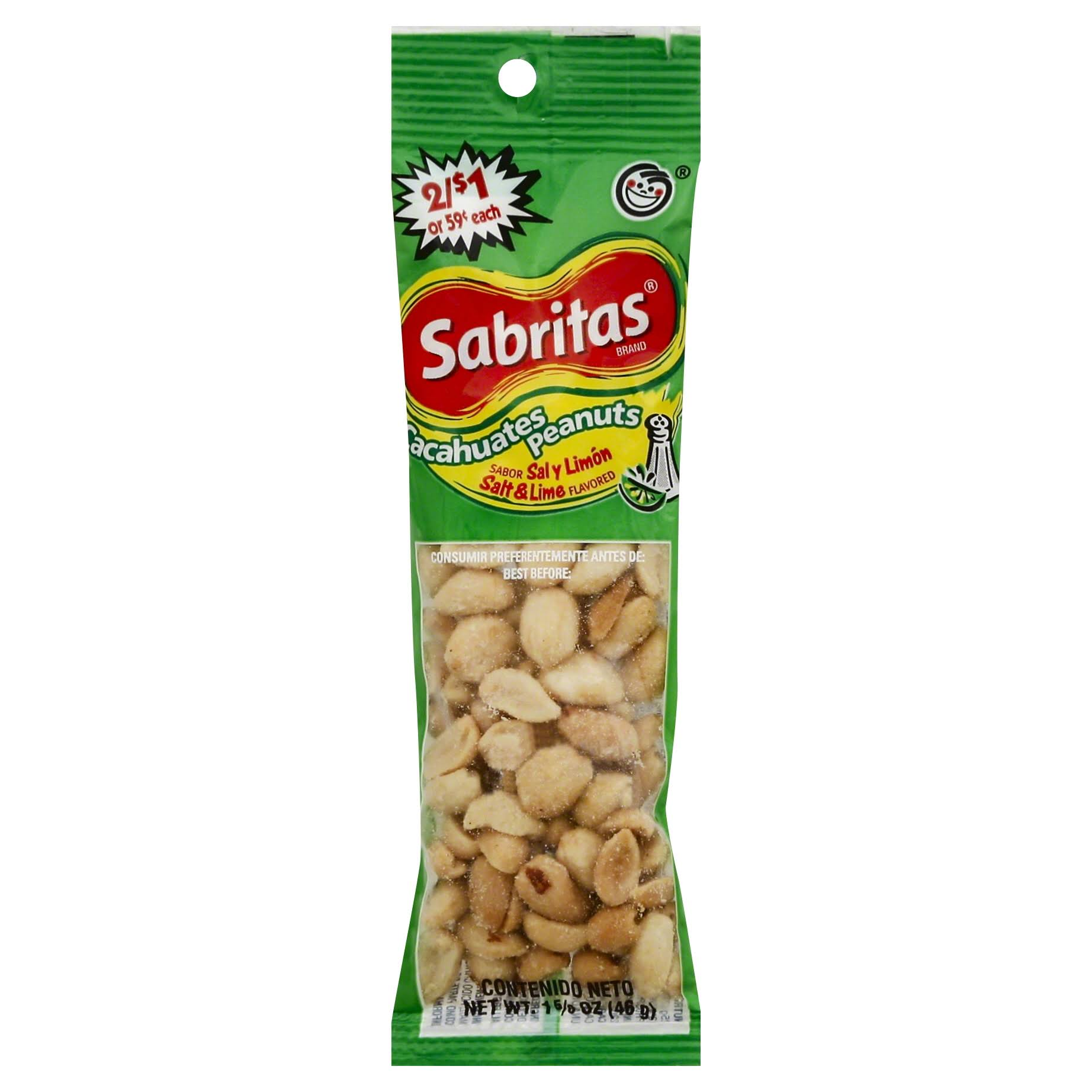 Frito Lay Sabritas Peanuts - Salt Lime, 1.625oz
