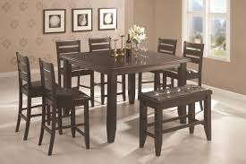 Best Dining Room Pub Style Set With Square Table Made From Raw Teakwood