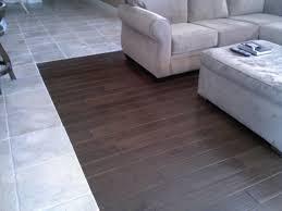 wood floor transitions to tile wood flooring design