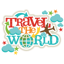 Travel The World Title SVG Scrapbook Cut File Cute Clipart Files For Silhouette Cricut Pazzles Free Svgs Svg Cuts