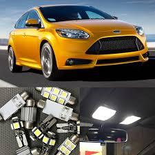 11pcs ultra bright car led light bulbs interior package kit for