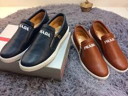 Prada Leather Cattlehide Men Attractive Prada Sports Shoes prada