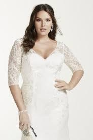3 4 sleeve lace trumpet plus size wedding dress style 9wg3684